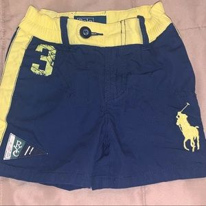 Polo Ralph Lauren | Navy & Yellow Shorts | NWOT